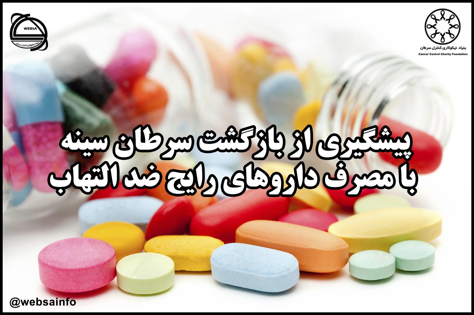 پیشگیری از بازگشت سرطان سینه با مصرف داروهای رایج ضد التهاب