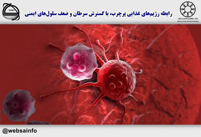 رابطه رژیمهای غذایی پرچرب، با گسترش سرطان و ضعف سلولهای ایمنی